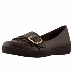 FitFlop Womens Adjustable Sneakerloafer brown 8